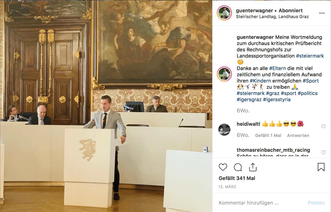 Screenshot: Instagram/Günter Wagner